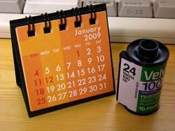 カレンダーとフィルム